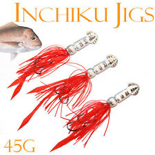 3x 45g Squid Inchiku Jig Micro Octo Jigs Fishing Lure Jigging Gomoku Snapper 34