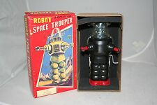"TIN TOM TOYS FIRST REPRO SPACE TROOPER ROBBY 7"" VERSION IN BLACK NOT SCHYLLING"