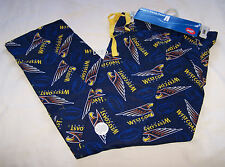 West Coast Eagles AFL Mens Navy Blue Flannel Sleep Pants Size M New