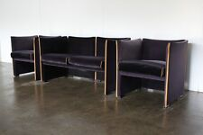 "Rare Gorgeous Cassina ""401 Break"" 2-Seat Sofa & 2 Armchair Suite in Navy Blue..."