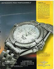 Publicité Advertising 2000 La Montre Breitling Wings lady