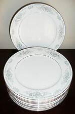 LARGE BANBURY INN JAPAN BAI1 GRAY BLUE FLOWERS PLATINUM TRIM DINNER PLATE FINE