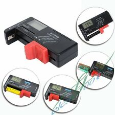 Button Battery Volt Voltage Check Tool AA AAA C D 9V 1.5V Tester New