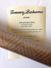Tommy Bahama Wallpaper Gold Brown Diamonds Double Roll Discontinued