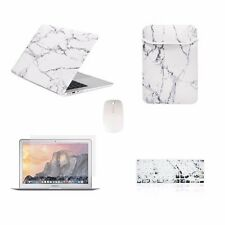 "5 IN 1 Macbook Air 13"" Marble White Hard Case + Keyboard Skin+ LCD + Bag + Mouse"