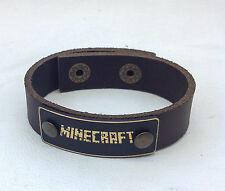 New MINECRAFT Leather Bracelet Jewelry, Wrist Wrap, Genuine Leather, Hand Made