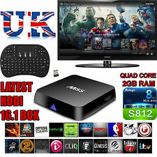 UK M8S 2G Ram KODI 16.1 with Keyboard  JAILBROKEN and FULLYLOADED Android TV Box