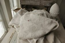 Linen sheet antique French 84X90 HEAVY 5 POUNDS slipcover upholstery Fabric