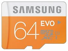 Samsung Micro SD EVO 48MB/S 64GB SDHC UHS-I con SD Adapter SI