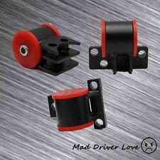 FOR 92-95 HONDA CIVIC EG B16 B18 B20 SIR STEEL MOTOR MOUNT REPLACEMENT KIT RED