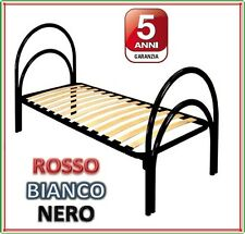 LETTO IN FERRO CON DOGHE ORTOPEDICO SINGOLO! SUPER AFFARE!