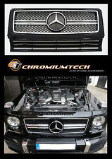 1989-2010 Mercedes W463 G Class BLACK CHROME Grill 2013 AMG Style G55 G63 G320