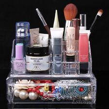 Clear Acrylic Makeup Drawers Holder Case Box Jewelry Storage Cosmetic Organizer