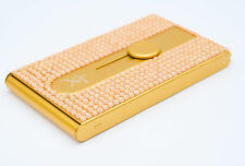 Gold Crystallized Bling Bling Automatic Business Card Holder