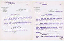 BERWICKSHIRE 2x Letters re the sale of The Laws Estate 1938 Edinburgh Legal Firm