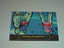 EP20 Bye, Bye Butterfree - 2000 Topps Pokemon Series 2 Episode Card