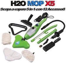 H2O MOP X5 SCOPA A VAPORE LAVAPAVIMENTI IGIENIZZANTE VAPORETTO STERILIZZATORE