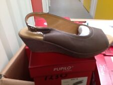 GENUINE, OLD FASHIONED SALE: Ladies Taupe Leather Sandals Size 4