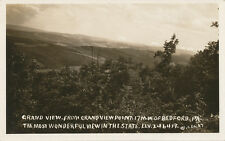 Bedford PA * Grandview Point View RPPC ca. 1920 Lincoln Highway