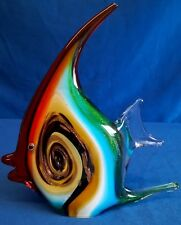 ART GLASS ANGEL FISH FIGURE PAPERWEIGHT - JULIANA OBJETS D'ART COLLECTION