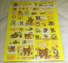 Rilakkuma Stickers Honey Edition 38 Pcs San-X