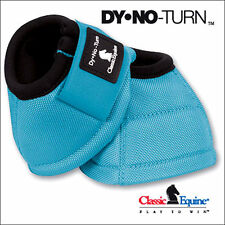 MEDIUM CLASSIC EQUINE DYNO HORSE NO TURN BELL BOOTS PAIR TURQUOISE