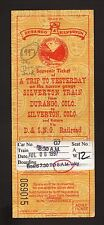 1997 Durango & Silverton Narrow Gauge Railroad Ticket--Durango, Colorado
