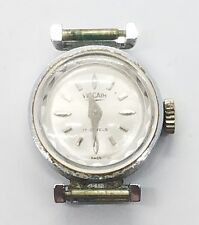 Vintage Ladies Vulcain Stainless Steel Running Wrist Watch