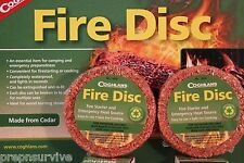 2 PK FIRE STARTER WATERPROOF CEDAR DISK USE WITH HEXAMINE ESBIT STOVES