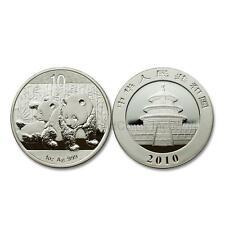 China 2010 Panda 10 Yuan 1 oz Silver BU Coin