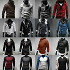 Mens Sweatshirt Hoodie Jacket Coat Hooded Long Sleeve Zipper Sporty Tops Outwear