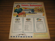 1950 Vintage Ad Greyhound Buses Farm Lady with Bushel of Apples Bus
