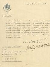 Lettera del Ministro della Guerra del Regno d'Italia 1918