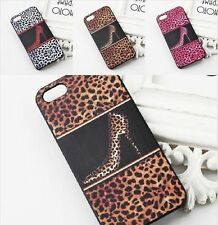 Brown Black Leopard High Heel Hard Cover Protecter Case For iphone 4 / 4S ❤Aus❤