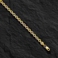 "14kt Yellow Gold Cable Link Pendant Chain/Necklace 36"" 4 mm  33 grams CAB100"