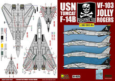 DXM decal 1/48 USN F-14B Tomcat VF-103 Jolly Rogers