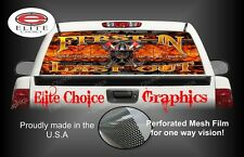 FireFighter First In Devil Walk Rear Window Graphic Decal Sticker Truck Car SUV