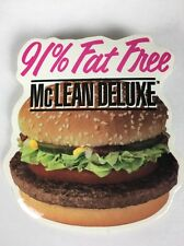 VINTAGE McDonalds McLean Deluxe 91% Fat Free Pin VTG 90s RARE Limited Burger USA