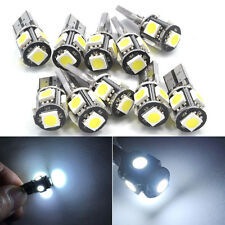 10X White Canbus Error Free Car T10 W5W 194 168 5050 LED 5SMD Wedge Light Bulb