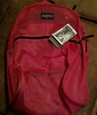 JanSport Pink Mesh Backpack, Gym, Day, Beach, Hiking Book Bag Backpack