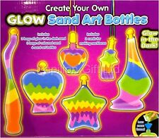Childrens Glow In The Dark Sand Art/Bottle Set Make Your Own Activity Craft Kit