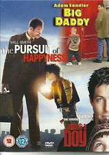 BIG DADDY * THE PURSUIT OF HAPPYNESS * ABOUT A BOY - 3 GREAT FILMS - 3 DVD SET