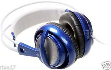Brand NEW SteelSeries Siberia V2 Full Size MULTIUSO Cuffie Gaming blu.