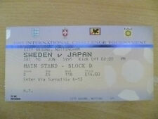 Tickets/ Stubs-1995 Umbro Cup/International Challenge Tournament- SWEDEN v JAPAN