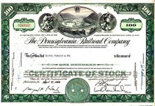 Broker Owned Stock Certificate: Glore Forgan Co, payee; Pennsylvania RR, issuer