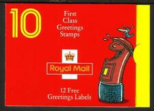 GB 1991 KX3 GREETING STAMPS LAUGHING PILLAR BOX 10 X 1ST CLASS BARCODE BOOKLET
