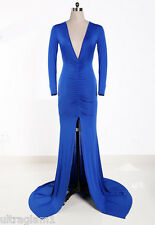 ROYAL BLUE LYCRA GOWN/DRESS/COSTUME/DRAG QUEEN/ sz 8-16 (Maybe 16) TALL/X-LONG