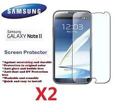 Samsung N7100 Galaxy Note 2 II LCD Screen Protector Crystal Ultra Clear Film X 2