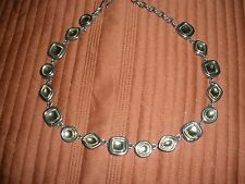 "Gorgeous Vintage Givency Mixed Metal Silver/Gold Tone Necklace-16"" w/3""Ext-EUC"