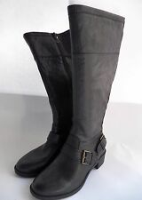 Naturalizer Macnair Tall Shaft Boot Leather Wide Shaft Boots Low Heel sz 8